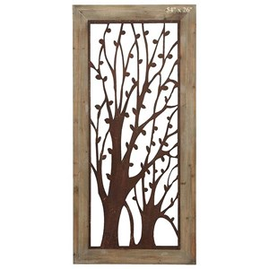 """Will's Company Accents Framed Tree Wall Plaque - 54"""""""