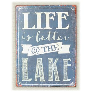 Will's Company Accents 'Life is better at the lake' Wall Sign