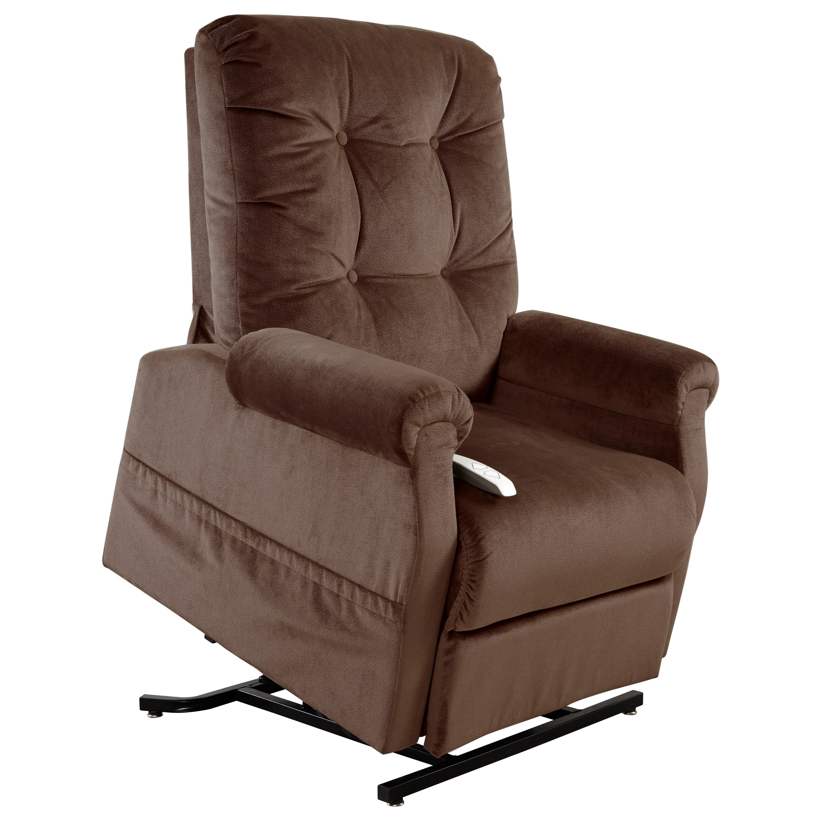 Windermere Motion Lift Chairs 3-Position Reclining Lift Chair with Power - Item Number: AS-4001 Chocolate