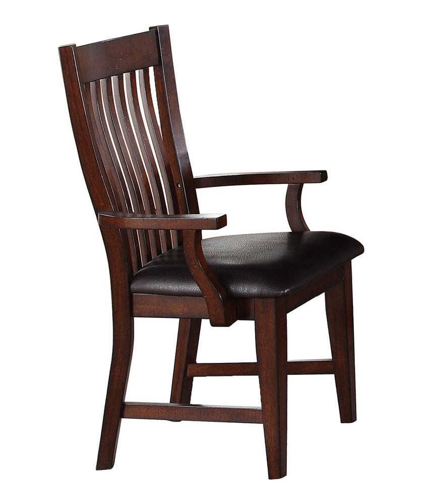 Winners Only Regis Slat Back Arm Chair - Item Number: DR1450A