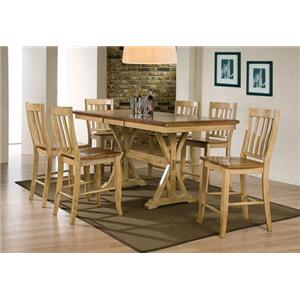 Winners Only Robins Lane 5pc Tall Table & Rake Back Barstool Set