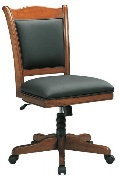 Americana Black Leather Side Chair by Winners Only at Pilgrim Furniture City
