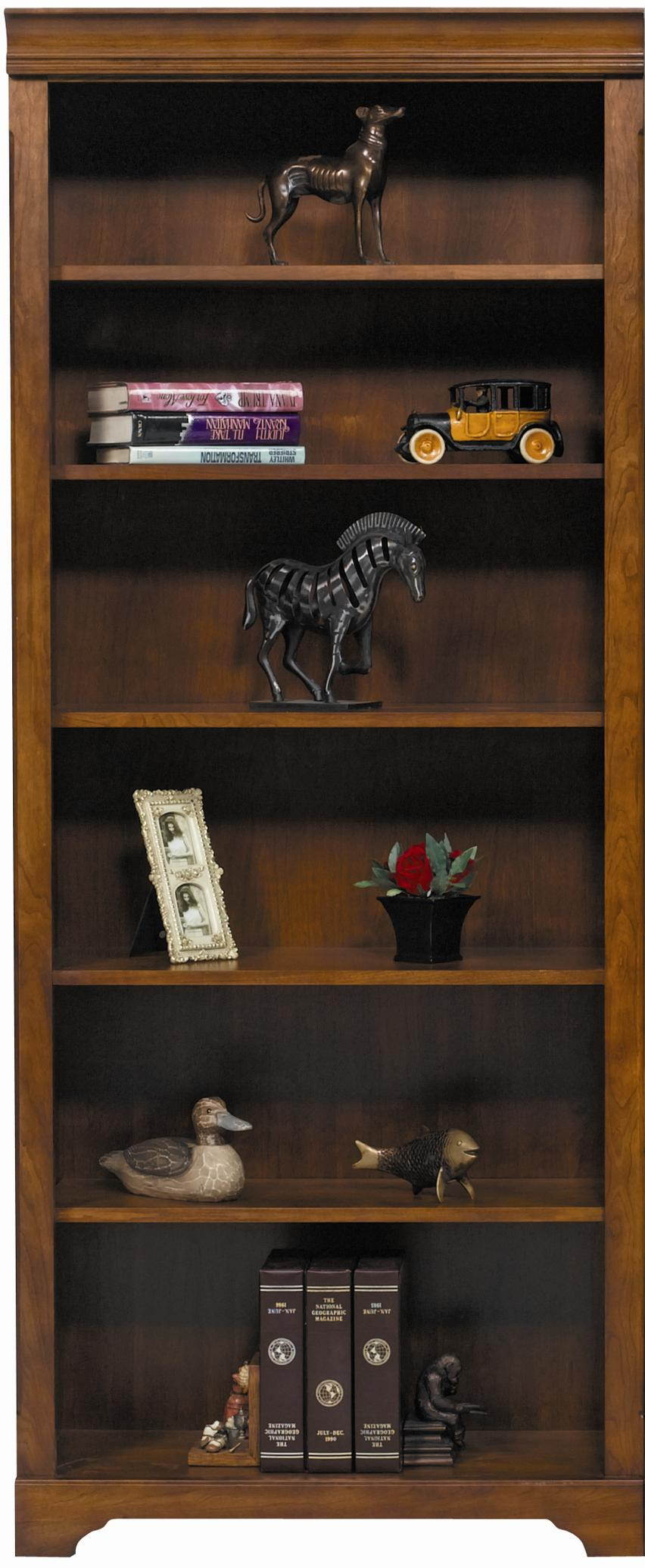 "Winners Only Americana Cherry 32"" Americana Cherry Modular Open Bookcase - Item Number: JM132B"