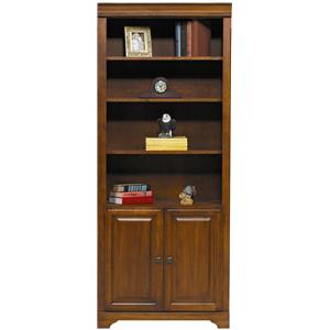 "Winners Only Americana Cherry 32"" Americana Cherry Bookcase with Doors"