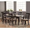 Winners Only Arlington 7 Piece Dining Set - Item Number: DA14086+6x50S