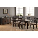 Winners Only Arlington 7 Piece Dining Set with X-Back Chairs