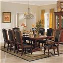 Winners Only Ashford 10 Piece Trestle Table and Chair Set - Item Number: DA44100+2x450A+6x450S