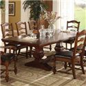 Winners Only Ashford 10 Piece Trestle Table and Chair Set - Trestle Table