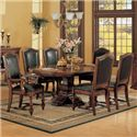 Winners Only Ashford 8 Piece Pedestal Table and Chair Set - Item Number: DA44872+2x450A+4x450S