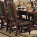 Winners Only Ashford 8 Piece Pedestal Table and Chair Set - Cushioned Side Chair