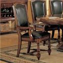 Winners Only Ashford 8 Piece Pedestal Table and Chair Set - Cushioned Arm Chair