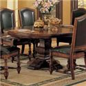 Winners Only Ashford 8 Piece Pedestal Table and Chair Set - Round Single Pedestal Table