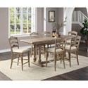 Winners Only Augusta Counter Height 7-Piece Table and Chair Set - Item Number: DAT23684R+6x245024R