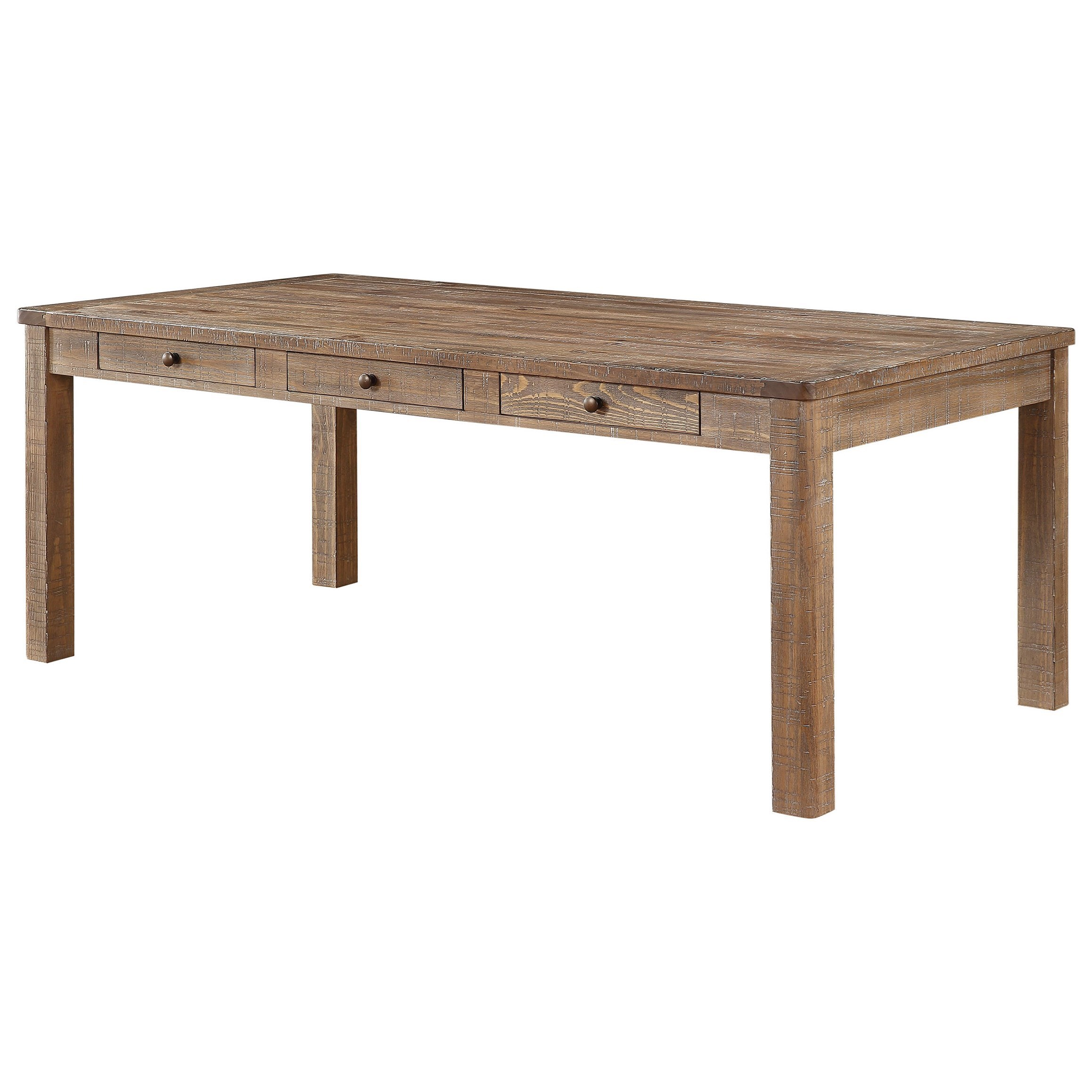 Winners Only Augusta Rustic Dining Table With Storage Crowley Furniture Mattress Dining Tables