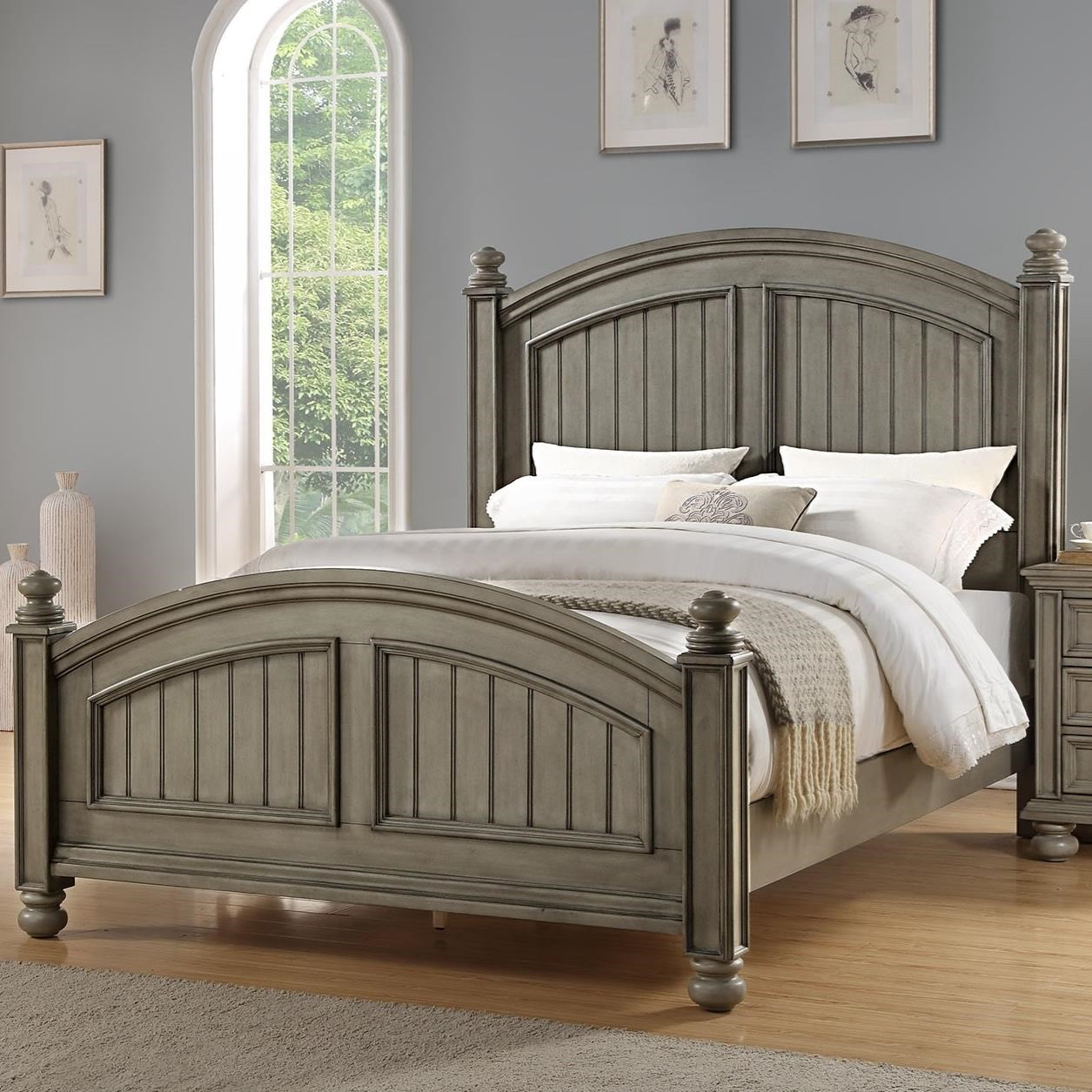Barnwell King Panel Bed by Winners Only at Mueller Furniture