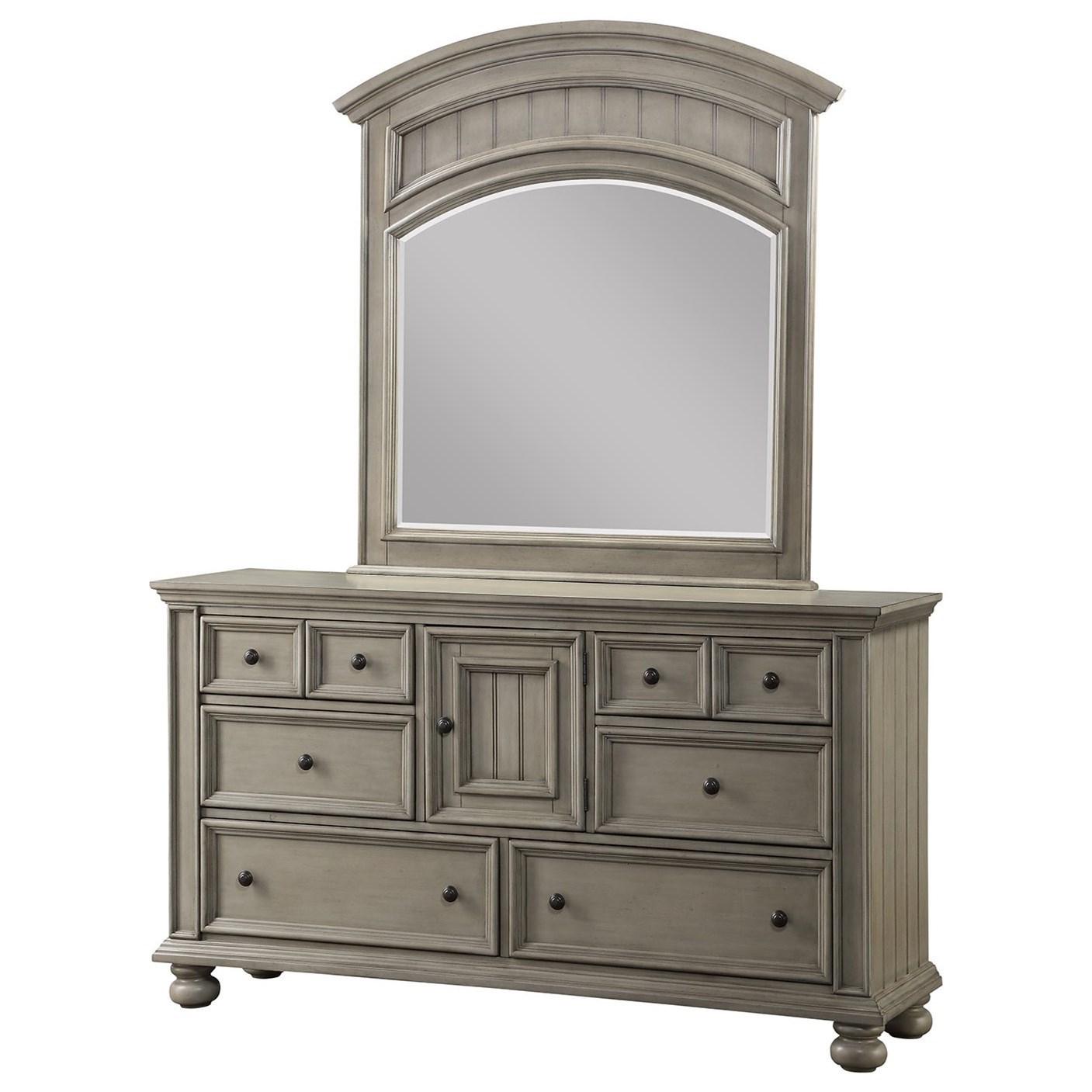 6-Drawer Dresser and Mirror