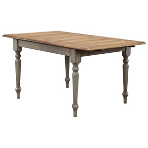 """Winners Only Brayden - Grey 60"""" Leg Table with 15"""" Butterfly Leaf"""