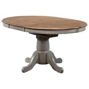 "42"" Pedestal Table with Leaf"