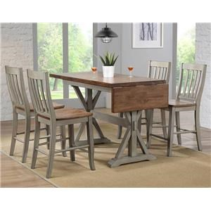 5PC Pub Table & Stool Set
