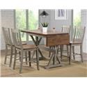 Winners Only Brayden - Grey 5PC Pub Table & Stool Set - Item Number: TBT52866+4X-DBT52224