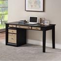 """Winners Only Berkeley 60"""" Single Pedestal Desk - Item Number: GB260DE+215FE"""
