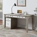 "Winners Only Berkeley 60"" Single Pedestal Desk - Item Number: GB260DG+215FG"