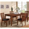 Winners Only Broadway 5 Piece Dining Set - Item Number: DFB14072+4x51S