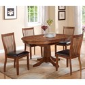 Winners Only Broadway 5 Piece Dining Set - Item Number: DFB14260+4x51S