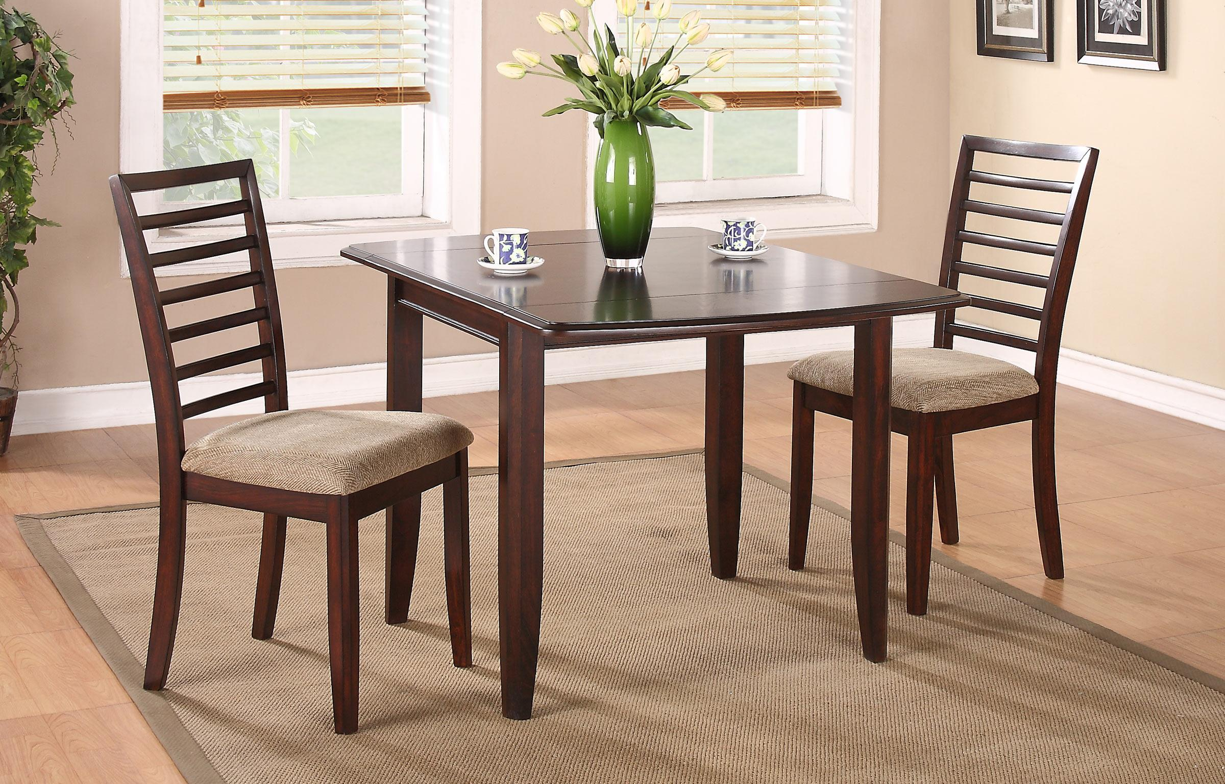 """Winners Only Brownstone 50"""" Table and Chair Set - Item Number: DB13650C+2xDB1450SC"""