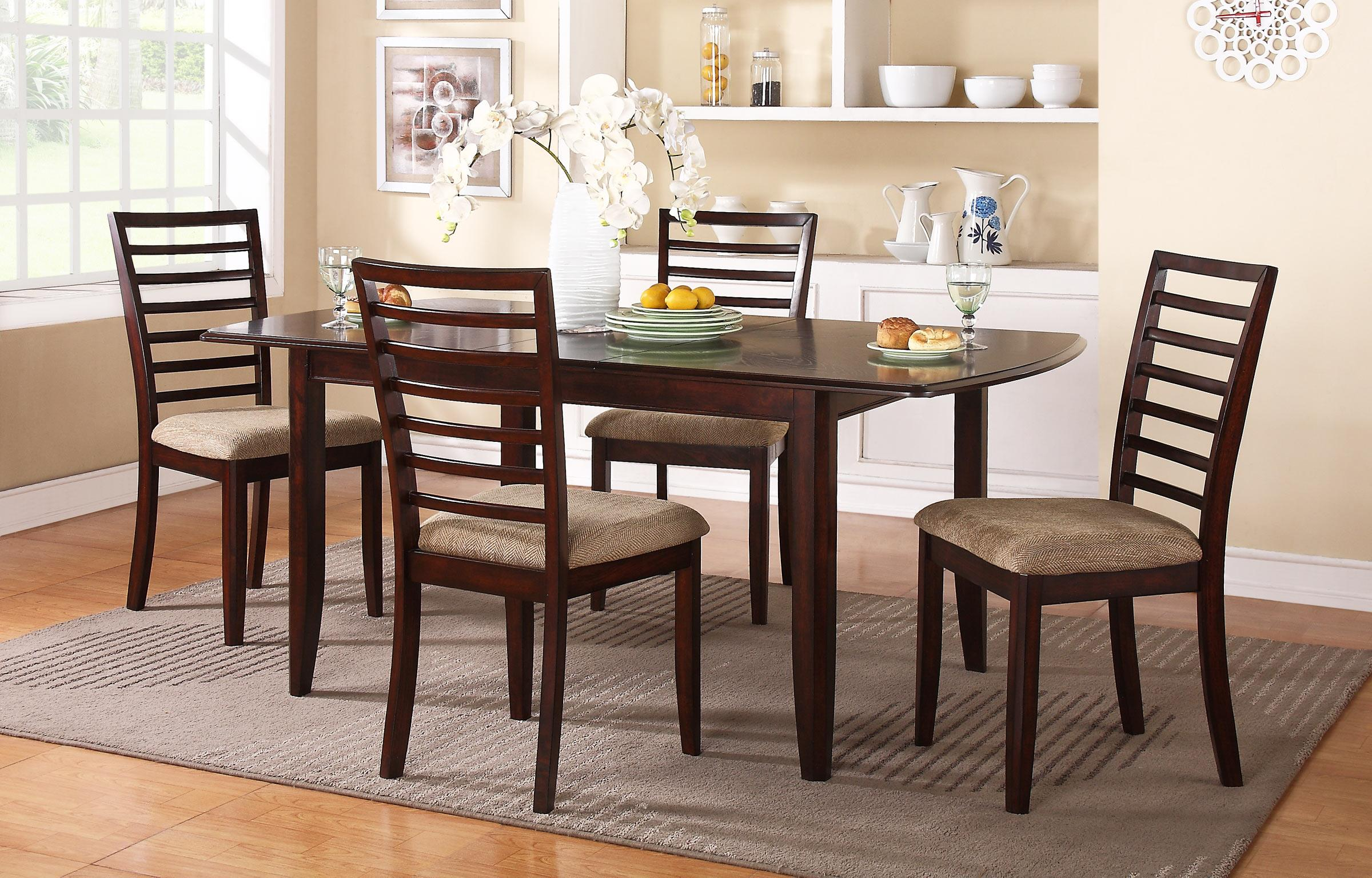 """Winners Only Brownstone 72"""" Table and Chair Set - Item Number: DB14072C+4x50SC"""