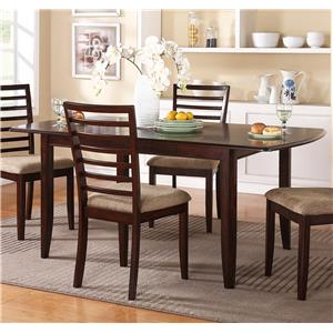 "Winners Only Brownstone 72"" Leg Table with Butterfly Leaf"
