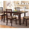 "Winners Only Brownstone 72"" Leg Table with Butterfly Leaf - Item Number: DB14072C"