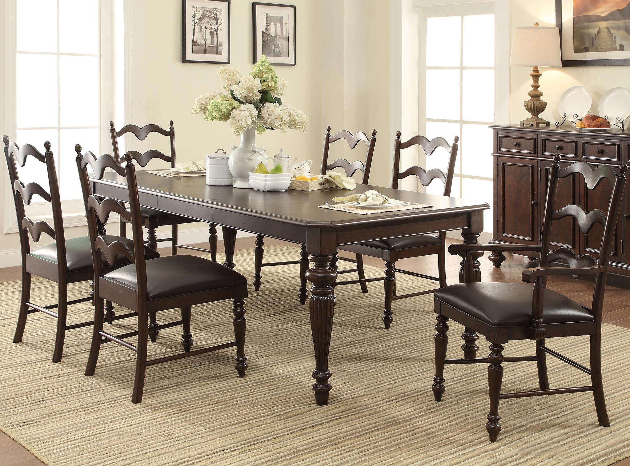 Winners Only Cambridge 7 Piece Dining Set - Item Number: DC14286M+4x550SM+2x550AM