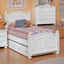 Winners Only Cape Cod  Panel Twin Bed - Item Number: BP1001TN2+2N