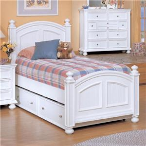 Winners Only Yarmouth Twin Panel Bed with Trundle
