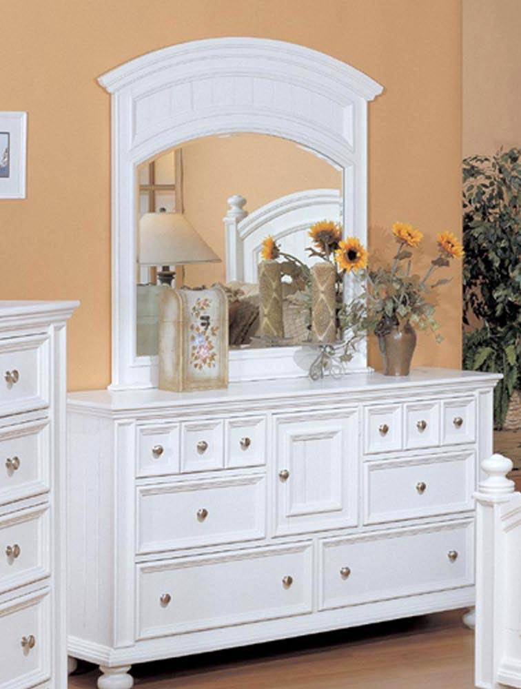 Six Drawer Dresser and Mirror Combo