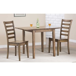 Winners Only Carmel Dining Set with Ladderback Chairs