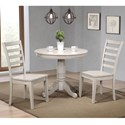 Winners Only Carmel 3 Piece Table Set - Item Number: DC33636G+2x50SG