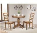 "Winners Only Carmel 36"" Table & 2 Chairs - Item Number: DC33636R+2XDC350SR"