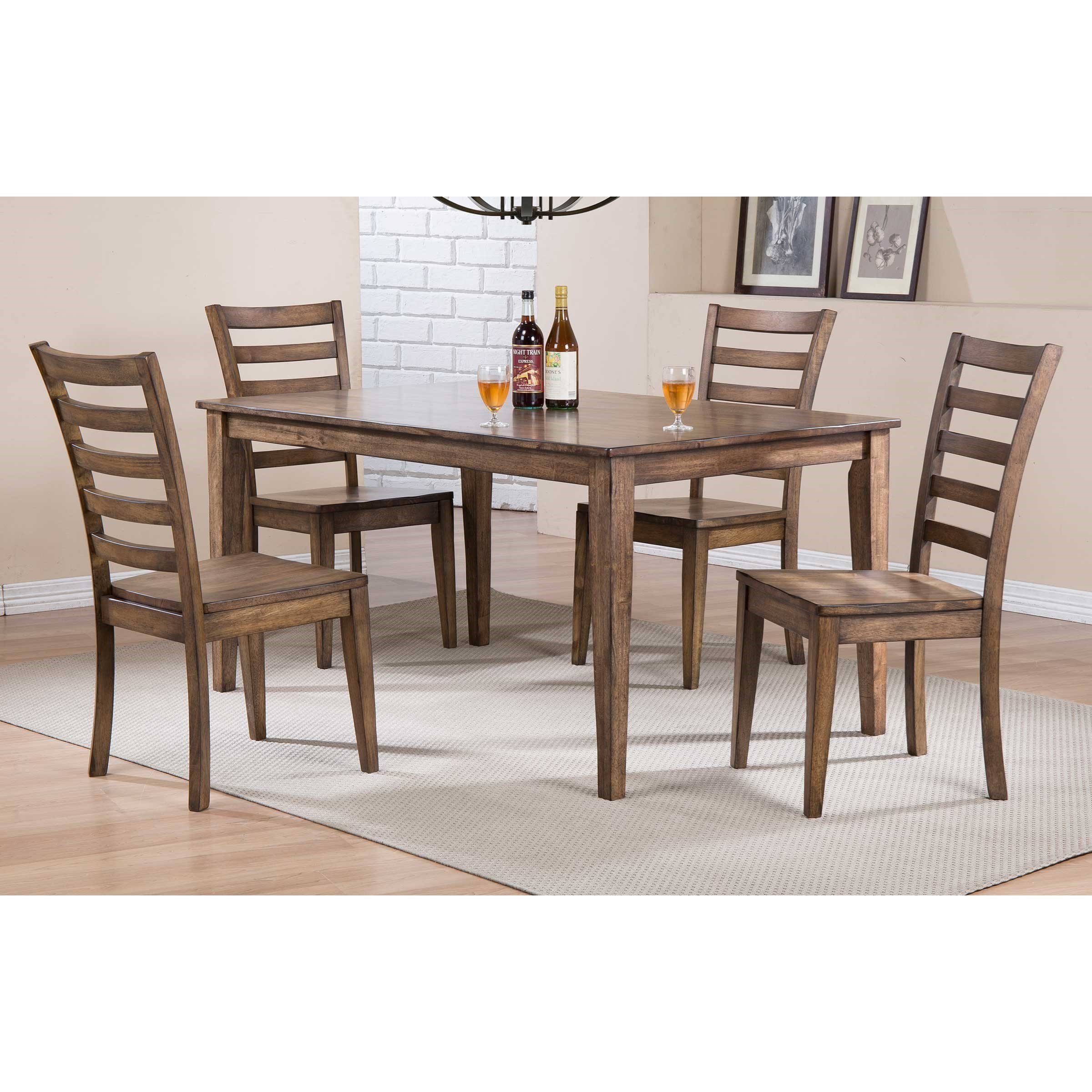 Winners Only Carmel 60 Leg Table With Rustic Finish Crowley Furniture Mattress Dining Tables