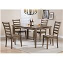Winners Only Carmel Table & 4 Chairs - Item Number: DC33660R+4XDC350SR