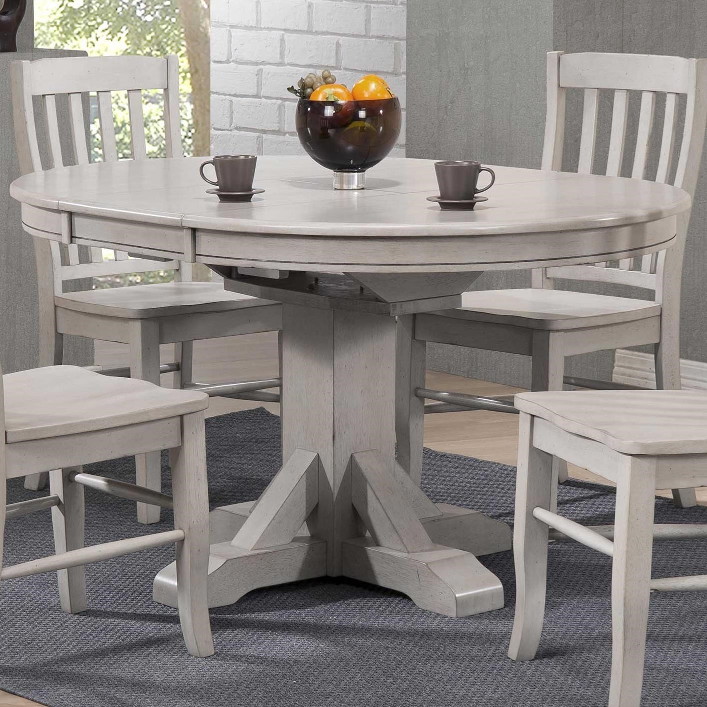 "57"" Pedestal Table w/ 15"" Butterfly Leaf"
