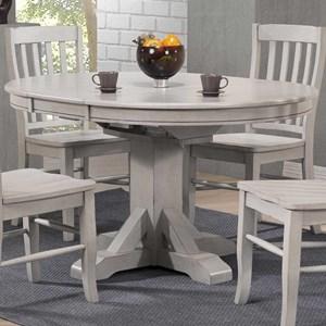 """57"""" Pedestal Table w/ 15"""" Butterfly Leaf"""