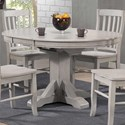 "Winners Only Carmel 57"" Pedestal Table w/ 15"" Butterfly Leaf - Item Number: DC34257G"