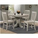 Winners Only Carmel Table & 4 Chairs - Item Number: DC34257G+4XDC352SG