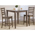 Winners Only Carmel 3 Piece Counter Height Dining Set - Item Number: DCT33636R+2x5024R