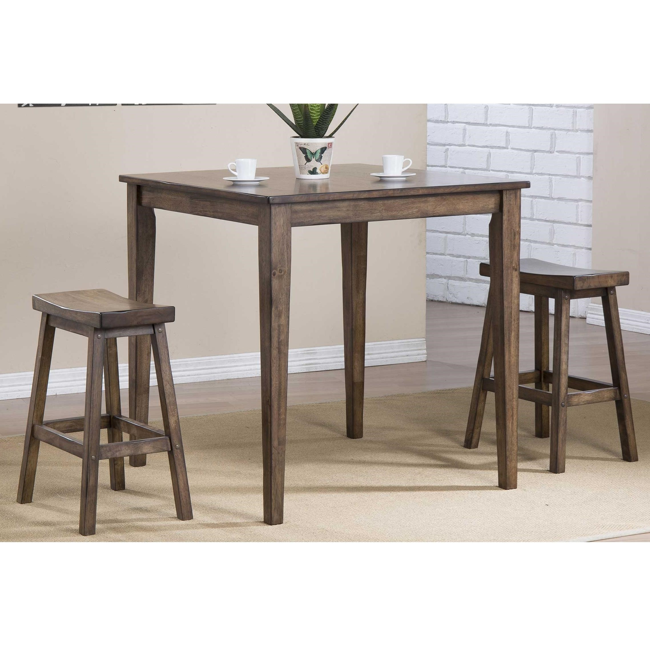 Winners Only Carmel 3 Piece Counter Height Dining Set   Item Number:  DCT33636R+2x5724R