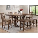 Winners Only Carmel 6 Piece Dining Set - Item Number: DCT33879R+4x5224R+5624R