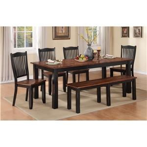 Winners Only Carson 6 Piece Dining Set