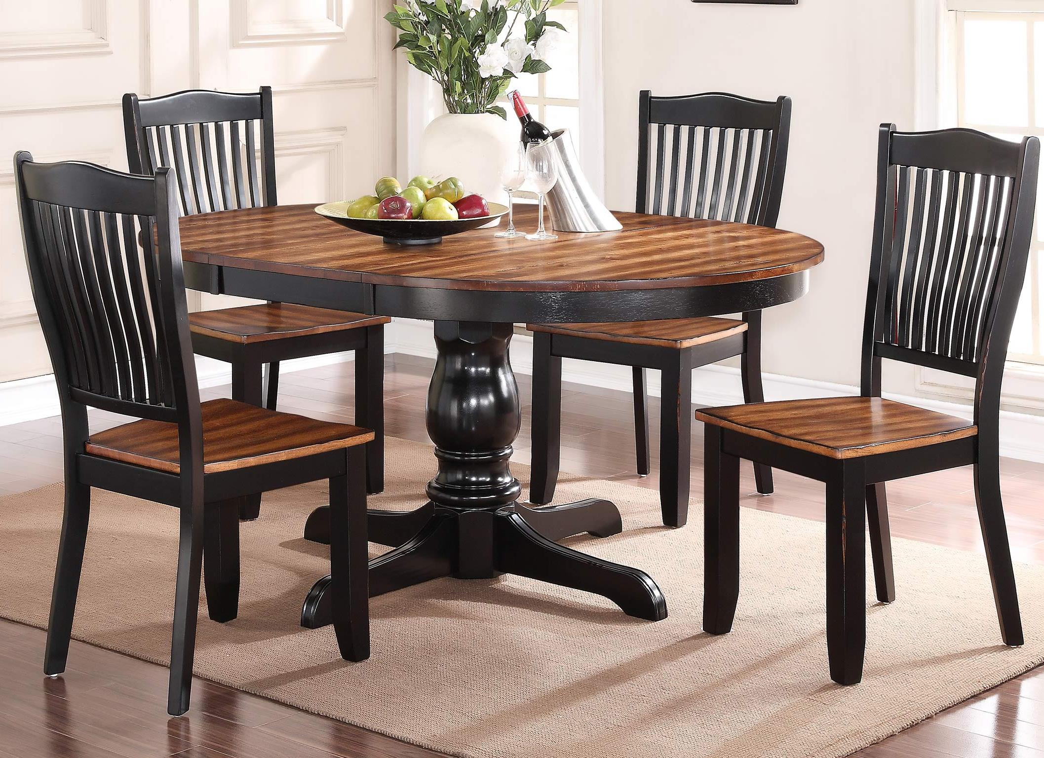 Winners Only Carson 5 Piece Dining Set - Item Number: DFC14866+4x50S